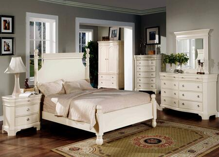 Yuan Tai BA3101KCHSET Bayle Series 5 Piece Bedroom Set