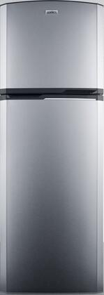 Summit FF946IM 8.8 cu.ft. frost-free refrigerator-freezer, adjustable glass shelves and reversible doors in