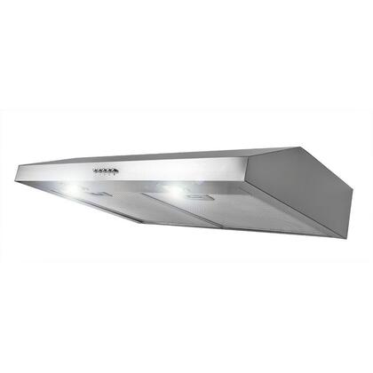 """AKDY AURY130X 30"""" Under Cabinet Range Hood with 300 CFM, 65 dB, Centrifugal Motor, Crisp Analog Push Buttons, Halogen Lighting, 3 Fan Speed, Aluminum Grease Filter and Ducted: X"""