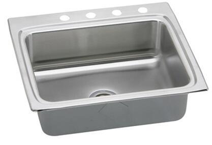 "Elkay LRADQ252260 Gourmet Lustertone Stainless Steel 25"" x 22"" Single Basin Top Mount Kitchen Sink:"