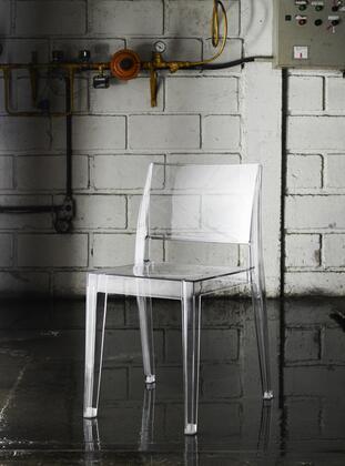 Modloft PAP401371 Gower Series Modern Not Upholstered Plastic Frame Dining Room Chair