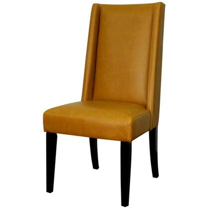 New Pacific Direct Template: Lucas Collection 358244B-V07-B Bonded Leather Dining Chair with Black Legs in Vintage Caramel