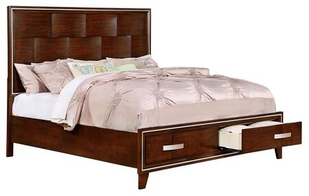 Furniture of America CM7616CKBED Safire Series  California King Size Bed
