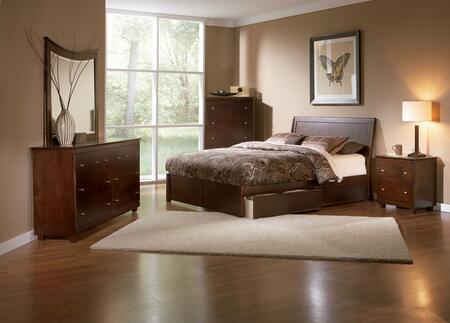 Atlantic Furniture PORTLANDFPFQUEENCL Portland Series  Queen Size Bed