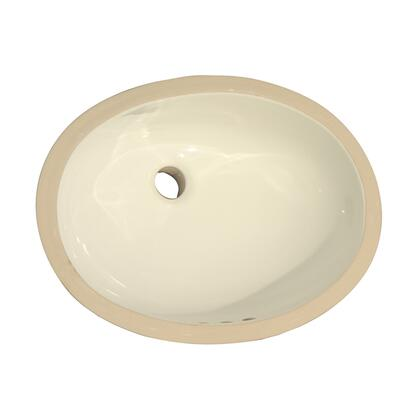 "Barclay 4733 19 1/2"" x 16 3/8"" Rosa 500 Undercounter Oval Basin in"