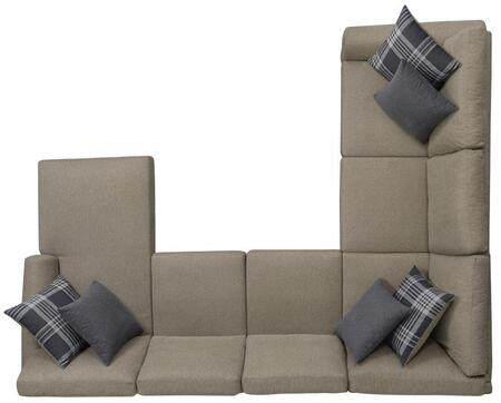 Scott Living Summerland Fabric Sectional Sofa 501139 Wheat