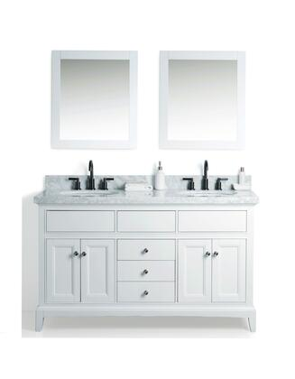 """Legion Furniture WS2360 60"""" Solid Wood Sink Vanity With Mirror And Faucet"""