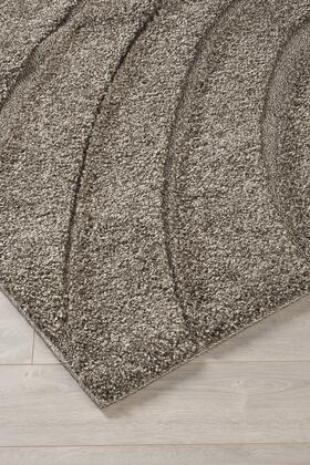 """Milo Italia Louis RG434357TM """" x """" Size Rug with Geometric Circle Design, Machine-Woven, 26mm Pile Height, Spot Clean Only and Polypropylene Material in Grey Color"""