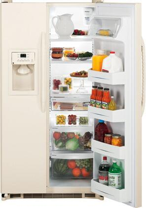GE GSH22JFXCC  Side by Side Refrigerator with 22 cu. ft. Capacity in Bisque