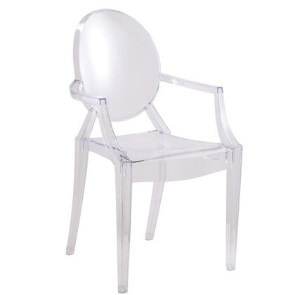 Fine Mod Imports FMI1130 Clear Arm Stackable Chair: