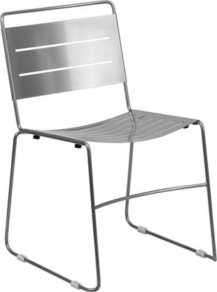 Flash Furniture HA1SILGG Hercules Series  Metal Frame  Patio Side Chair