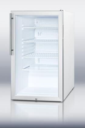 Summit SCR450LHVADA  Counter Depth All Refrigerator with 4.1 cu. ft. Capacity in White