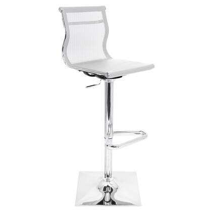 "LumiSource Mirage BS-TW-MIRAGE 38"" - 47"" Barstool with 360-Degree Swivel, Chrome Base and Mesh Fabric in"