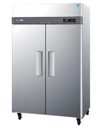 Turbo Air M3F M3 Series Freezer with Solid Door, Digital Temperature Control System, Hot Gas Condensate System, Efficient Refrigeration System and Stainless Steel Cabinet Construction