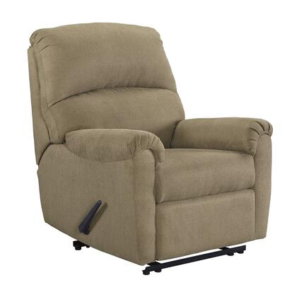 """Milo Italia Plainfield Collection MI-3600-76-TMP 35"""" Zero Wall Recliner with Pillow Top Arms, Stitching Detail and Fabric Upholstery in"""