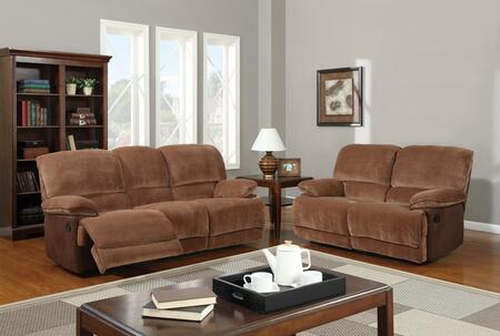 Global Furniture USA U9968ChmpBrSugarMF101SLR Living Room Se