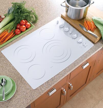 GE PP942TMWW  Electric Cooktop, in White