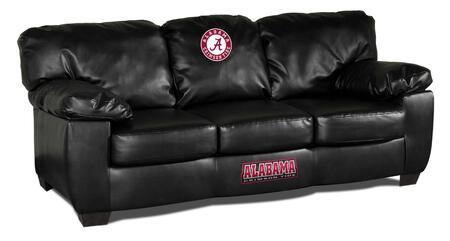 Imperial International 79-60 Collegiate Themed Black Leather Classic Sofa