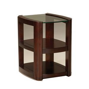 Standard Furniture 24075 5th Avenue Series Contemporary Rectangular 0 Drawers End Table