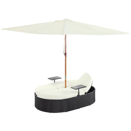 "Modway EEI955EXPWHISET 82"" Canopy Outdoor Bed"