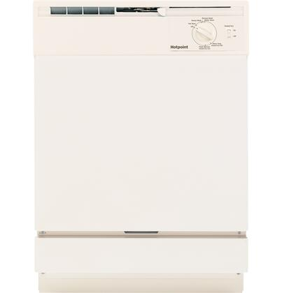"Hotpoint HDA2100HCC 24"" Built In Full Console Dishwasher with 12 Place Settings Place Settingin Bisque"