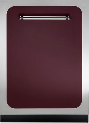 "Heartland HCDWI1CRN 24"" Classic Series Built-In Fully Integrated Dishwasher with 15 Place Settings Place Settingin Red"