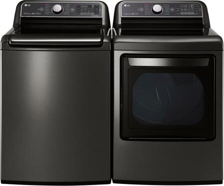 LG 718922 Black Stainless Steel Washer and Dryer Combos