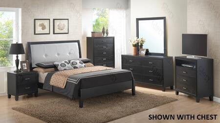 Glory Furniture G1250EKB3DMNTV G1250 King Bedroom Sets