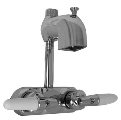 """Barclay 191-S Diverter Code Spout, with Solid Construction, Plastic Handles, and Spout 4"""" Above Handles"""