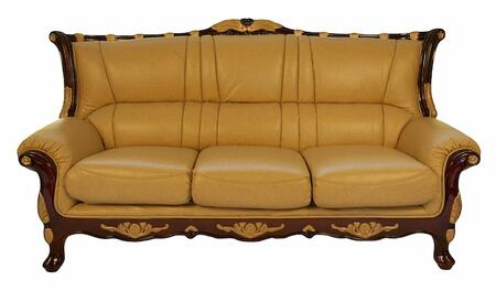 J. Horn 992S 992 Series Stationary Leather Sofa