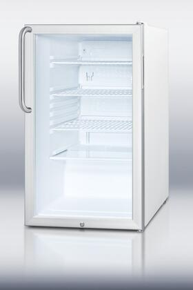 "Summit SCR450L7TB 20"" Compact Refrigerator with 4.1 cu. ft. Capacity in Stainless Steel"