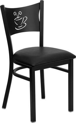 Flash Furniture HERCULES Series XU-DG-60099-COF-BXXV-GG Heavy Duty Coffee Back Metal Restaurant Chair with Vinyl Seat, Commercial Design, 18 Gauge Steel Frame, and Plastic Floor Glides