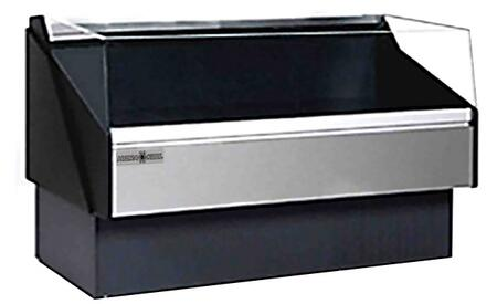 Hydra-Kool KFMOFxR Open Front Deli Case with Tempered Front Glass, BTU, Designed for Deli Products Fresh and Packaged Meat, in Black