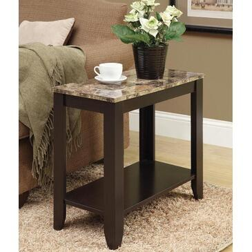 Monarch I3114 Contemporary Rectangular 0 Drawers End Table
