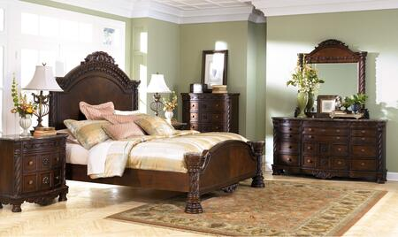 Milo Italia BR607QPBDMC Matthews Queen Bedroom Sets