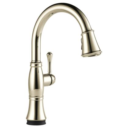Cassidy  9197T-PN-DST Delta Cassidy: Single Handle Pull-Down Kitchen Faucet with Touch2O Technology in Polished Nickel