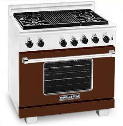 American Range ARR364GDLHB Heritage Classic Series Liquid Propane Freestanding Range with Sealed Burner Cooktop, 5.6 cu. ft. Primary Oven Capacity, in Brown