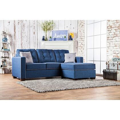 """Furniture of America Ravel II Collection SM885X-SECTIONAL 84"""" 2-Piece Sectional with Left Arm Facing Loveseat and Right Arm Facing Chaise in"""