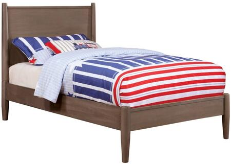Furniture of America CM7386GYTBED Lennart Series  Twin Size Panel Bed