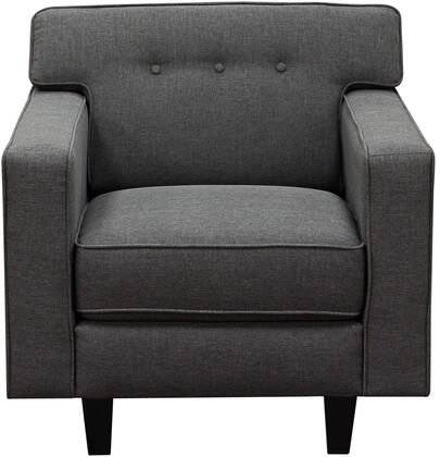 Diamond Sofa MIDCENTURYCHSL Mid-Century Series Fabric Armchair with Wood Frame in Slate