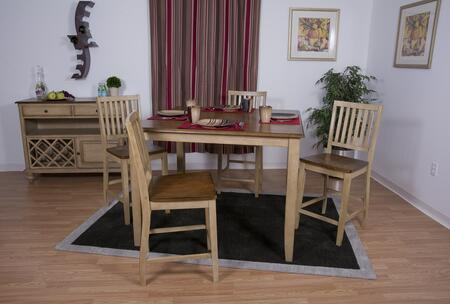 Sunset Trading DLUBR4848CBB60SRPW6PC Brook Dining Room Sets