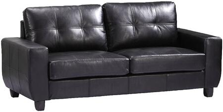 "Glory Furniture 79"" Sofa with Removable Back, Track Arms, Tapered Legs, Tufted Cushions and PU Leather Upholstery in"