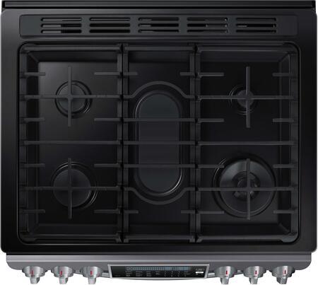 samsung black stainless steel cooktop