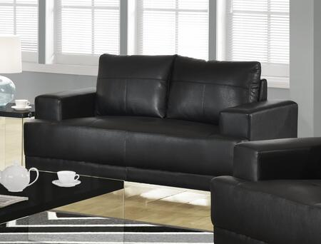 "Monarch I 8602XX 62"" Loveseat with Removable Cushions , Oversized Arms and Bonded Leather"