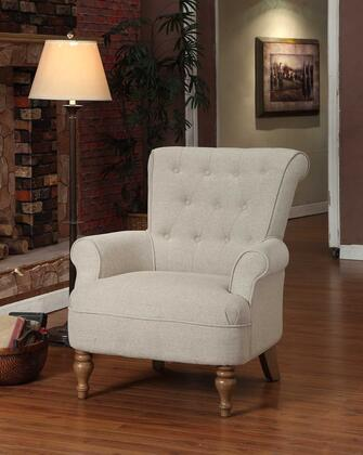 Armen Living LC2087SA Hudson Series  with Sand Fabric Frame in Grey