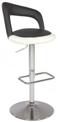 Chintaly 0648AS Residential Bonded Leather Upholstered Bar Stool
