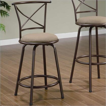 Coaster 122029 Residential Faux Leather Upholstered Bar Stool