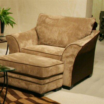 Jackson Furniture 326201 Plush corded micro-denier polyester fabric Armchair with Wood/Steel Frame
