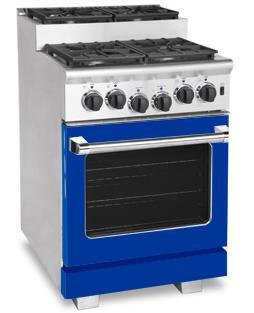 American Range ARR244SBU Titan Series Gas Freestanding Range with Sealed Burner Cooktop, 3.71 cu. ft. Primary Oven Capacity, in Sapphire Blue