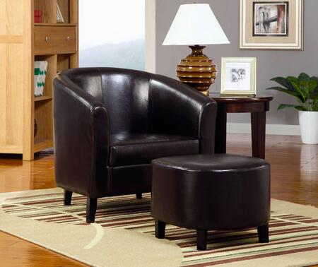 Coaster 900240 Club Vinyl Wood Frame Accent Chair